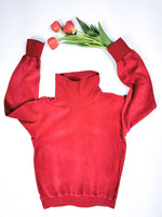 70-luvun kotimainen punainen puuvillasametti-poolo, 38