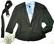 Musta vyöllinen Pallo Paita Oy:n jakku 90-luvulta, 42