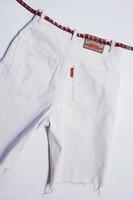 80-luvun valkoiset farkkushortsit korkealla vyötäröllä, S