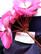Violetti vuorillinen kapea hame 90-luvulta, 42