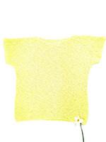 Uniikki keltainen puuvillaneule, L