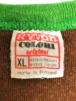 70-luvun Kotimainen ruskea puuvillatoppi, M
