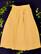 90-luvun keltainen nappihame viskoosia, L-XL