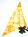 90-luvun keltainen batiikkihuivi, puuvillaa