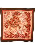 70-luvun punainen paisley -huivi