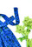 50-luvun uniikki sininen kukkamekko, koko S