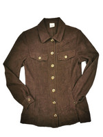90-luvun ruskea paitatakki sivutaskuilla, S-M