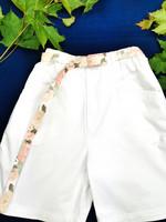 90-luvun valkoiset Gina -puuvillashortsit, S