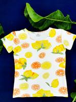 2000-luvun alusta sitruunakuvioinen t-paita, M
