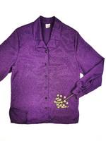 90-luvun kotimainen väljä violetti paita, L