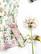 90-luvun kotimainen kukkapusero pitsikauluksilla, XS