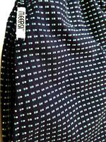 70-luvun kotimainen taskullinen sininen puuvillamekko, M