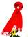 Kirkkaan punainen pitkä viskoosihuivi