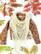 90-luvun suuri valkoinen pitsipampulahuivi villasekoitetta