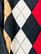90-luvun puuvillainen argyle -neulepoolo, L-XL