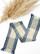 Ruudullinen käsin kudottu villahuivi, siniharmaa