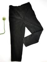 Naisten mustanharmaat samettihousut, 90-luku, L