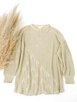 90-luvun kiiltävä neule puuvillaviskoosia, M-L