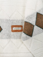 Italialainen miesten villasekoiteneule argyle-kuviolla, M