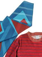 70-luvun petroolinsininen geometrinen huivi