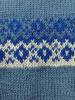 Kotimainen 70-luvun sininen villaliivi, XS-S