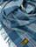 Vintage siniruudullinen lämmin jättihuivi