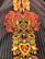 Boheemi punaraitainen puuvillatunika, S