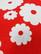Retro punainen kukkaliivi, M