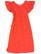 Punavalkea essumekko lyhyillä röyhelöhihoilla, XS-M