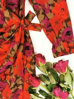 Vintage juhlamekko ohutta laadukasta villaa, 38 -(40)