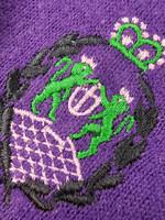Italialainen violetti neule kilpikonnakauluksella, XS-M