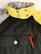 80-90-luvun musta-keltainen naisten toppahaalari, S-M