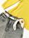 90-luvun keltainen puuvillaneule, XS