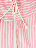 Raidallinen vaaleanpunainen oversize hupputakki, S-L
