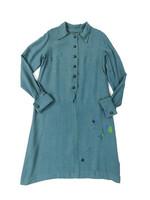 Vintage pehmeä villamekko, käsinkirjomalla paikattu, 38