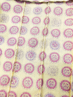 Naisten kuviollinen kauluspaita 70-luvulta, M