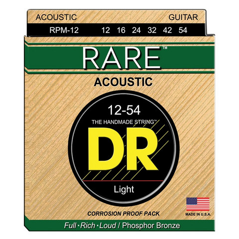 DR STRINGS RARE RPM-12 (12-54) AKUSTISEN KITARAN KIELISETTI
