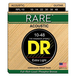 DR Strings Rare RPL-10 (10-48), akustisen kitaran kielisetti