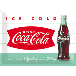 Metal Wall Sign, Coca-Cola Ice cold, 30 x 40 cm (new)