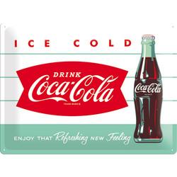 Coca-Cola Ice cold, Kilpi 30 cm x 40 cm (uusi)