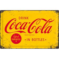Metal sign, Coca-Cola in bottles 40 cm x 60 cm (NEW)