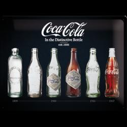 Seinäkyltti, Coca-Cola In the Distinctive Bottle Metallic 30cm x 40cm (UUSI)