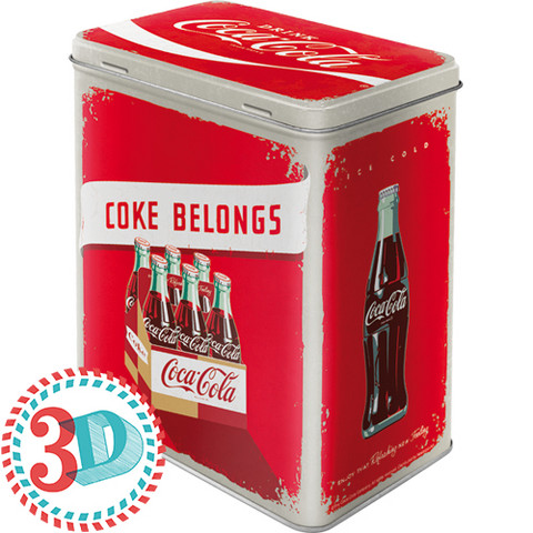 Tin box, Coca-Cola Coke belongs (NEW)