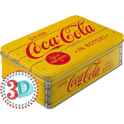 Tin box, Coca-Cola in Bottles (NEW)