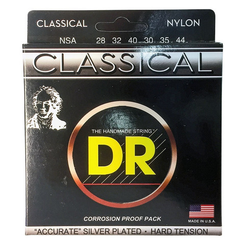DR Strings Nylon Classical NSA (28-44) klassisen kitaran kielisetti