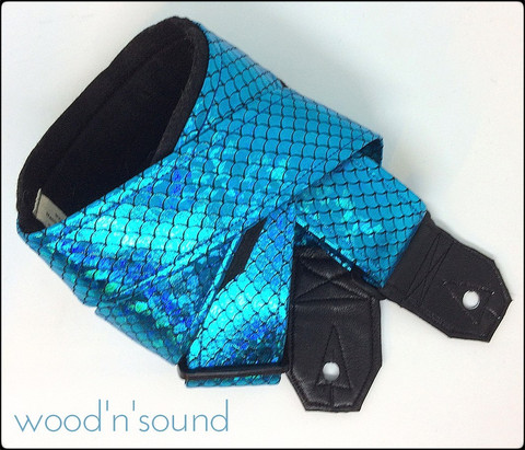 Guitar Strap Wood'n'sound Shiny Turquoise (new)