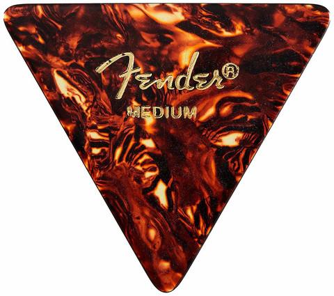 Fender Plektra Triangle Picks Celluloid Med