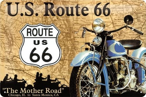 Metal Wall Sign 20 x 30 cm  Route 66 (new)