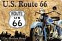 Kilpi 20x30 Route 66 sininen moottoripyörä (uusi)