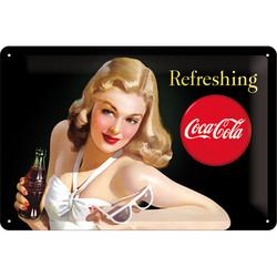 Metal Wall Sign, Coca-Cola Refreshing (new)